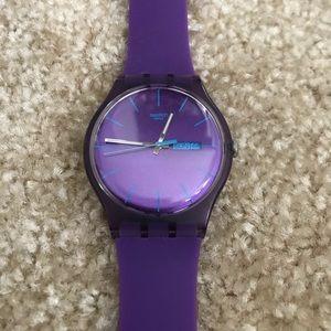 Purple Swatch Watch